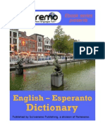 Parleremo English-Esperanto Esperanto-English Dictionary 1ed