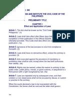 RA 386-Civil Code
