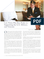 Article LMA - Law Firms Play Key Roles in Supporting the US Military and Veterans