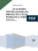 COMPENSACIÓN PROYECTO CANAL PONELOYA CORINTO