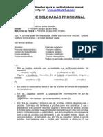 Português - sintaxe colocação pronominal