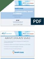 Exploring Apps for Communication, Speech & Language. ATIA 2013