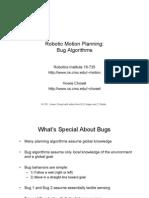 The Bug2 algorithm