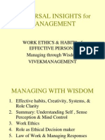Work Ethics and Habits of Effective Persons