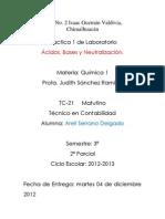 Practica Acidos Bases y Neutralizacion.