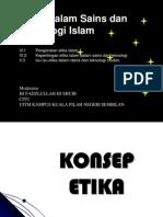 Etika Dalam Sains Dan Teknologi Islam II