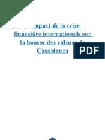 L'impact de la crise financière internationale sur la bourse des valeurs de Casablanca