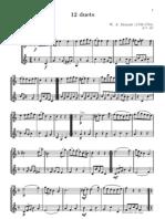 12 duets (nº 11 - menuetto) - partitura