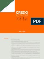 Credo 2012 Activism Report