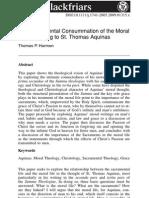 Sacramental consumtion of the moral life according to Thomas Aquinas