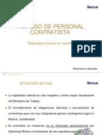 Check List Ingreso de Contratistas