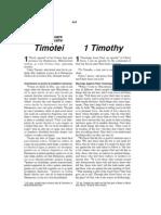 Romanian-English Bible New Testament 1 Timothy