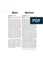 Romanian-English Bible New Testament Matthew