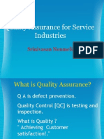 Quality Assurance for Service Industries