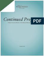 SECOND PROGRESS REPORT ON OVERSIGHT OF MORTGAGE SETTLEMENT-NOV 2012