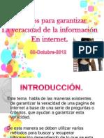 I Veracidad de La Informacion de Internet