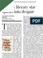 When a Literary Star Spirals Into Despair