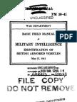 (1941) Identification of British Armoured Vehicles