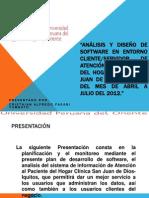Analisis y Diseño de software en entorno cliente - servidor