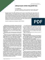 Prediction for Antidepressants Activity Using QSAR Study