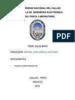 Informe de Fisica EQUILIBRIO