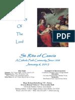 St. Rita Parish Bulletin 1/6/2013