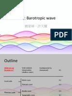 Barotropic wave
