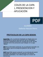 Protocolos de Capa la Capa de Sesión Presentación y Aplicación