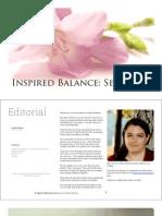Inspired Balance E2 Self Care Nov 2012 Sample