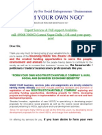 FORM YOUR OWN NGO TRUST SOCIETY