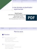 Normalisation des données et planification expérimentale
