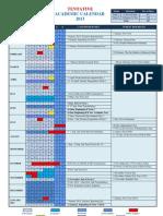 2013 TENTATIVE Academic Calendar of Maldives