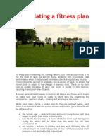 Formulating a Fitness Plan