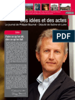 Des idées et des actes-Journal de Philippe BAUMEL-Député de Saone et Loire