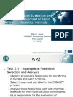 Feedstock evaluation and development of rapid analytical methods