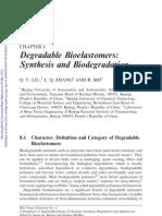 Degredation bioelastomers synthesis