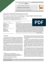 Cooperative Distributed Model Predictive Control
