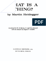 Heidegger, Martin. What is a Thing.