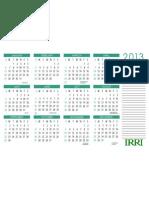 IRRI 2013 Calendar Tabloid Wide