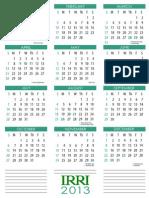 IRRI 2013 Calendar Letter Tall