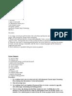 Quickfire Recipes 1