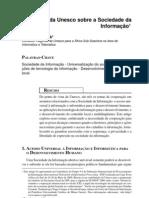 CYRANEK (2000) § A visão da Unesco sobre a Sociedade da Informação