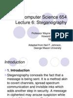 Computer science 654 ; Steganography