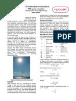 Wind Turbine Power calculation