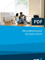 ANZ Landlord Insurance PDS
