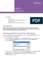 Ms Query 2007
