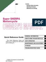 Kawasaki Super Sherpa Kl250g9 Owners Manual