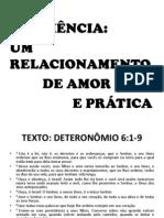 OBEDIÊNCIA UM RELACIONAMENTO DE AMOR E PRÁTICA