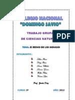 Trabajo Practico de Reino de Los Hongos_colegio Domingo Savio