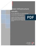 Green Infrastructure Retrofit as an alternative to Conventional Stormwater Management